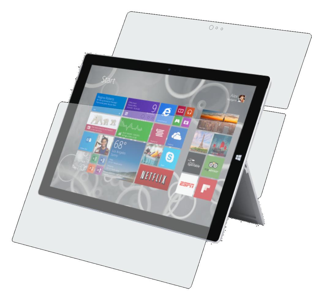 Folie de protectie Smart Protection Tableta Surface Pro 3 12.0 - fullbody-display-si-spate imagine