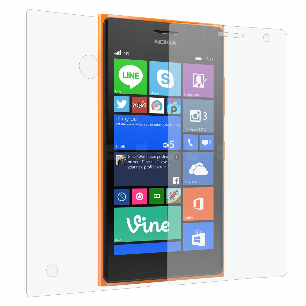 Folie de protectie Smart Protection Nokia Lumia 735 - fullbody-display-si-spate imagine