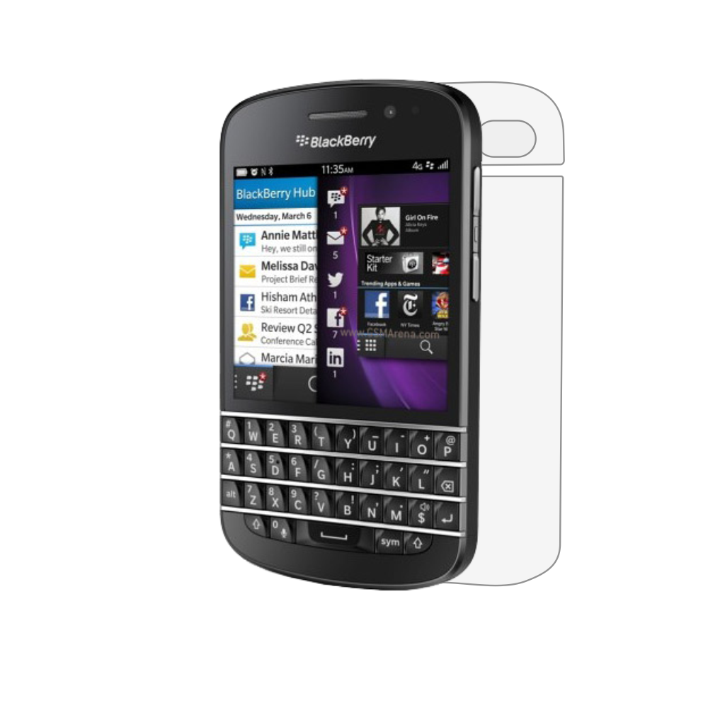 Folie de protectie Smart Protection BlackBerry Q10 - doar spate imagine