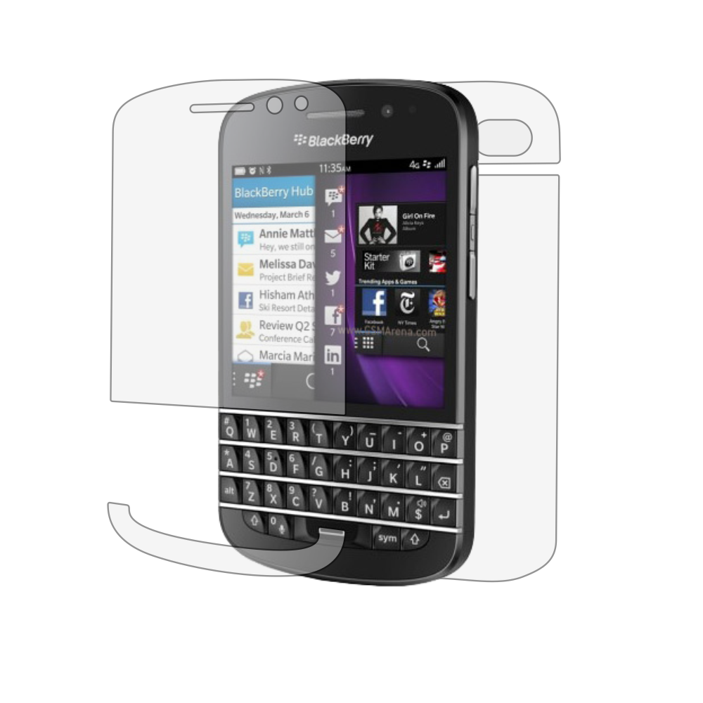 Folie de protectie Smart Protection BlackBerry Q10 - fullbody-display-si-spate imagine