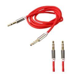 Cablu audio smart cu mufa jack 3.5 mm pentru Aux Red