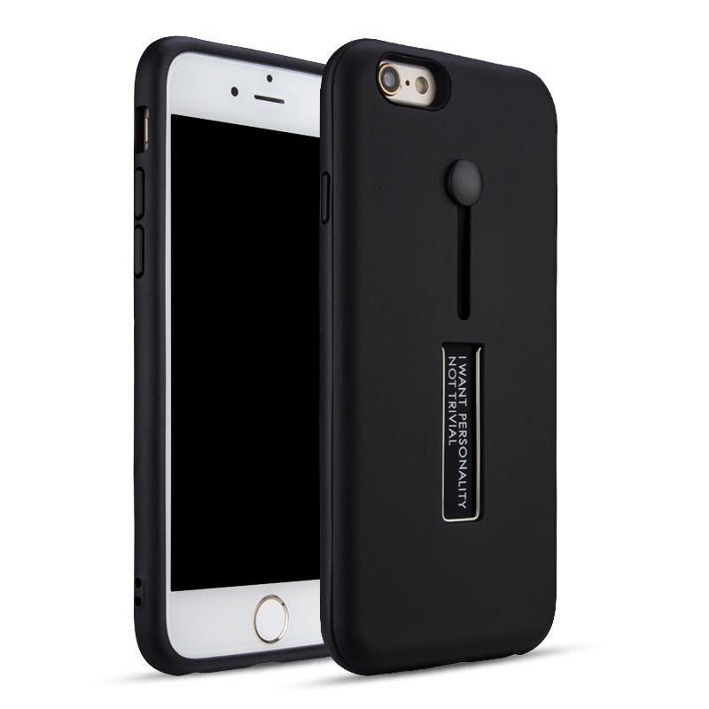 Carcasa din silicon pentru iPhone 6/6S Color - Negru imagine