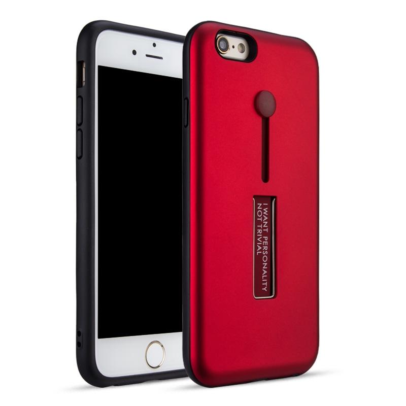 Carcasa din silicon pentru iPhone 6/6S Color - Rosu imagine