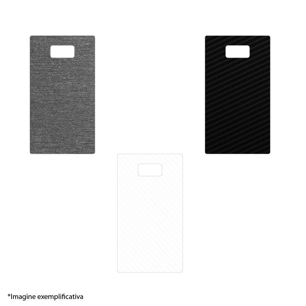 Skin Wrap Smart Protection Samsung Galaxy S7 - Metalic Graphit imagine