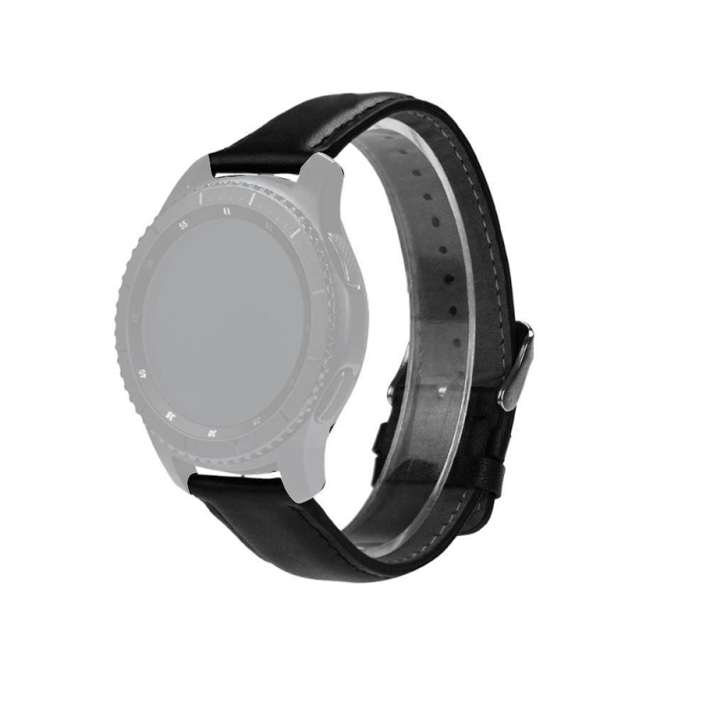 Curea 22mm Samsung Gear S3 Classic,vector Luna,galaxy Watch 46,moto 2nd 46,vivoactive 4 Piele Neagra