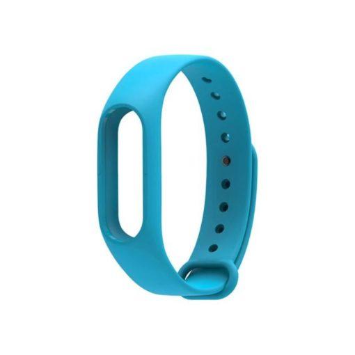 Curea albastra din silicon compatibila cu Xiaomi Mi Band 2