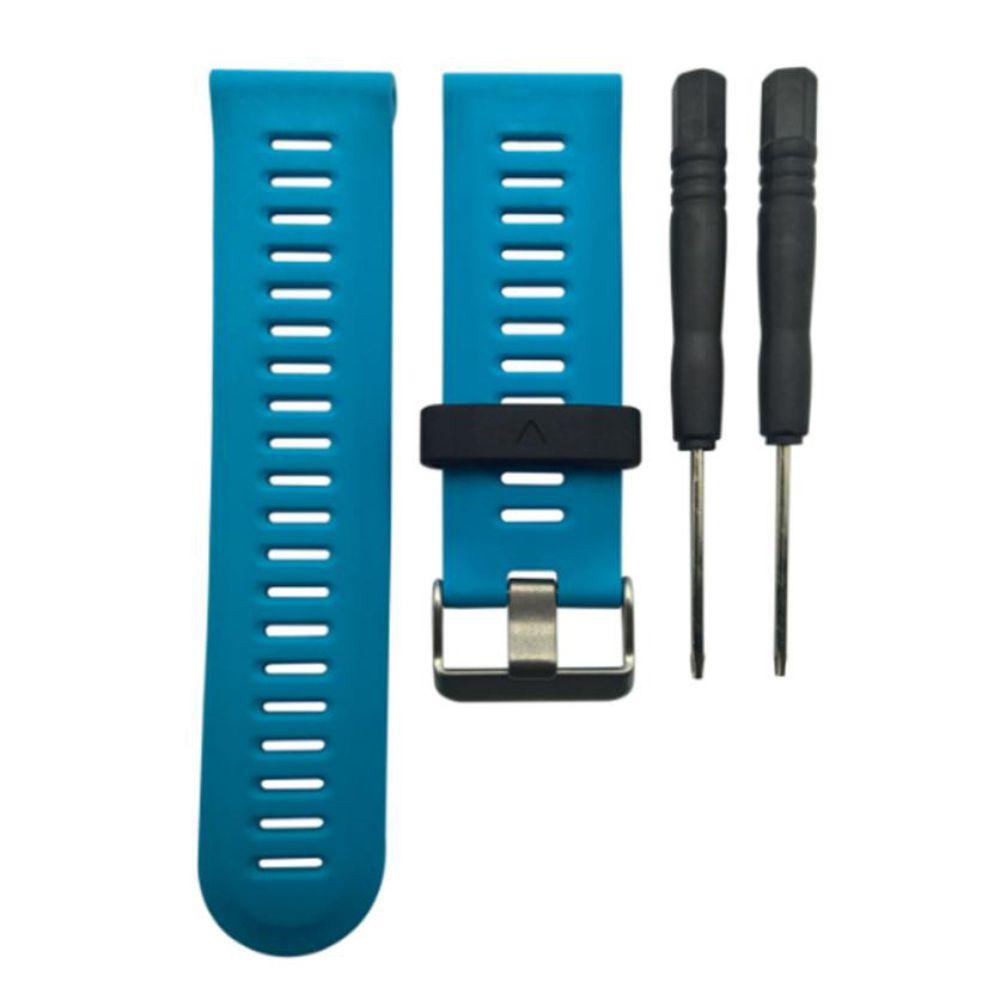 Curea 26mm Garmin Fenix 3/Fenix 5x/Fenix 5X Plus/Fenix 6x silicon albastru cu prindere clasica imagine