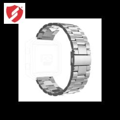 Curea metalica argintie compatibila cu FitBit Blaze