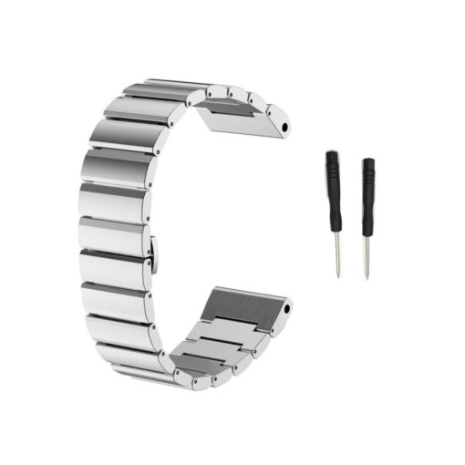 Curea metalica argintie compatibila cu Garmin Fenix 3 si Garmin Fenix 5X