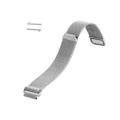 Curea metalica argintie cu magnet pentru Huawei Watch W2 Classic tip Milanese