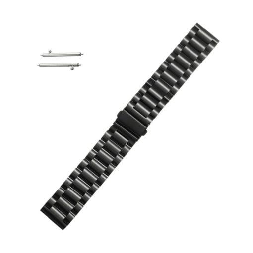 Curea metalica neagra pentru Motorola Moto 360 2nd Gen 22mm