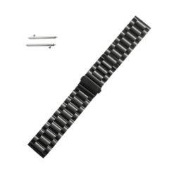 Curea metalica neagra pentru Motorola Moto 360 2nd Gen 20mm