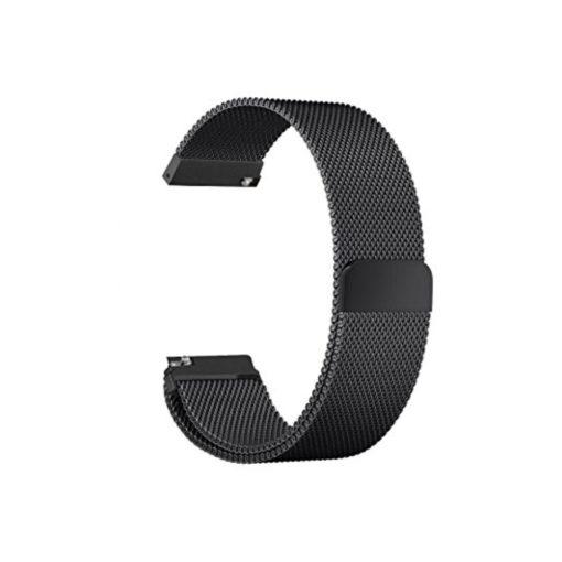 Curea metalica neagra cu magnet pentru Huawei Watch W2 Classic tip Milanese