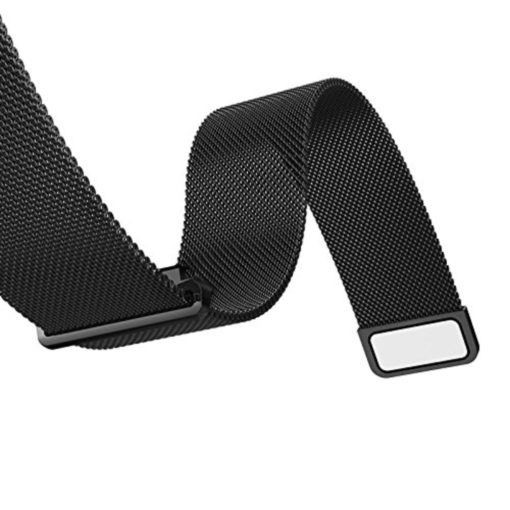 Curea metalica neagra cu magnet pentru Samsung Gear S2 / Galaxy Watch 42mm / Huawei Watch W2 Sport / Motorola 2nd gen 42mm