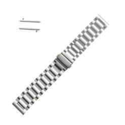 Curea metalica argintie pentru Motorola Moto 360 2nd Gen 22mm