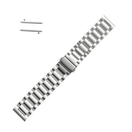 Curea metalica argintie pentru Motorola Moto 360 2nd Gen 20mm
