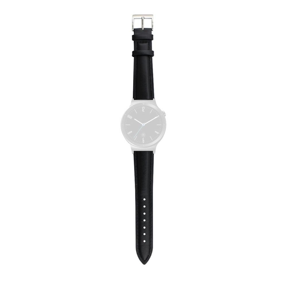 Curea 18mm Huawei Watch W1,Huawei Fit,Fossil Q Tailor,Michael Kors Sofie piele neagra imagine