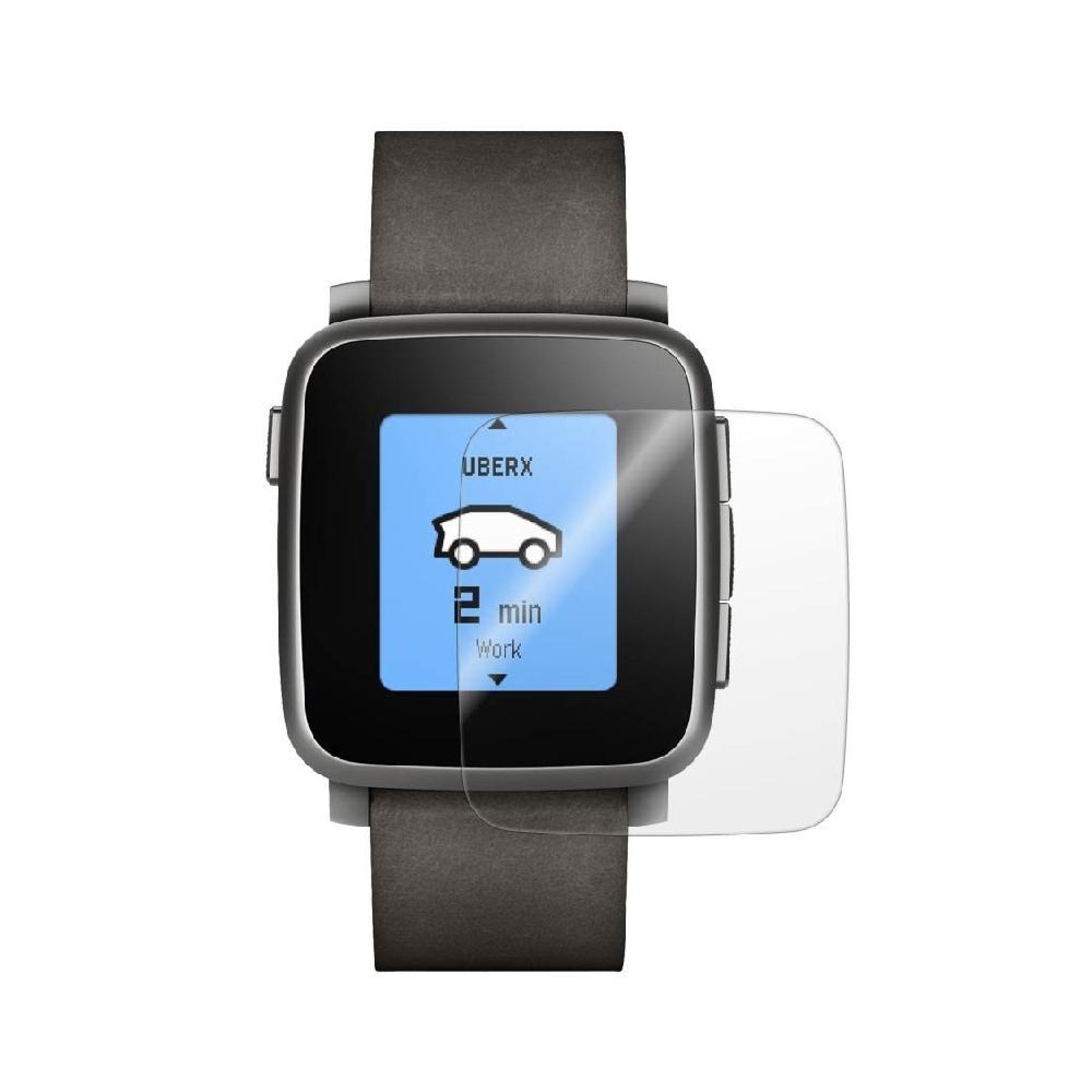 Folie de protectie Smart Protection Smartwatch Pebble Time Steel - 4buc x folie display imagine