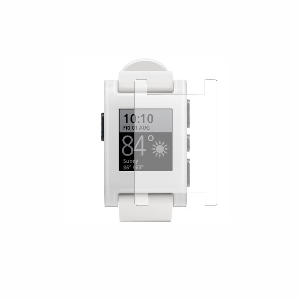 Folie de protectie Smart Protection Smartwatch Pebble 301WH - 4buc x folie display imagine