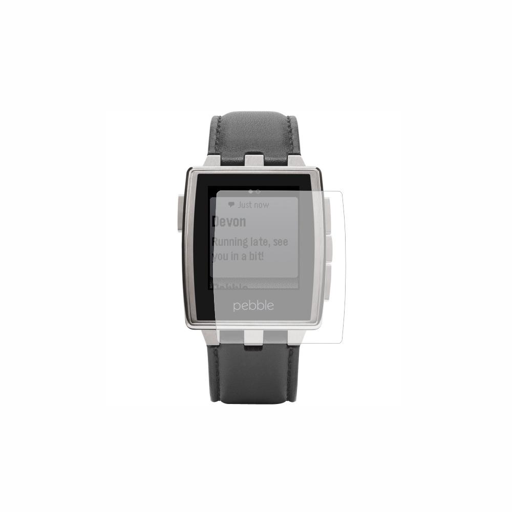 Folie de protectie Smart Protection Smartwatch Pebble 401BLR - 2buc x folie display imagine