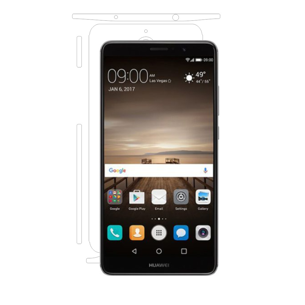 Folie de protectie Smart Protection Huawei Mate 9 - doar-spate+laterale imagine