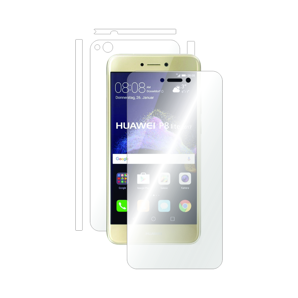 Folie de protectie Smart Protection Huawei P8 Lite (2017) - fullbody-display-si-spate imagine