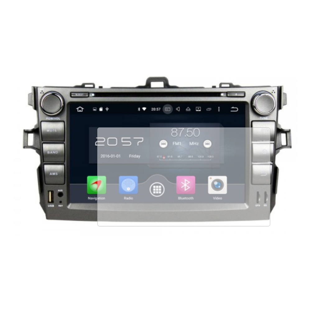 Folie de protectie Smart Protection Navigatie AM Toyota Corolla 2006-2011 cu Android 8 inch - 2buc x folie display imagine