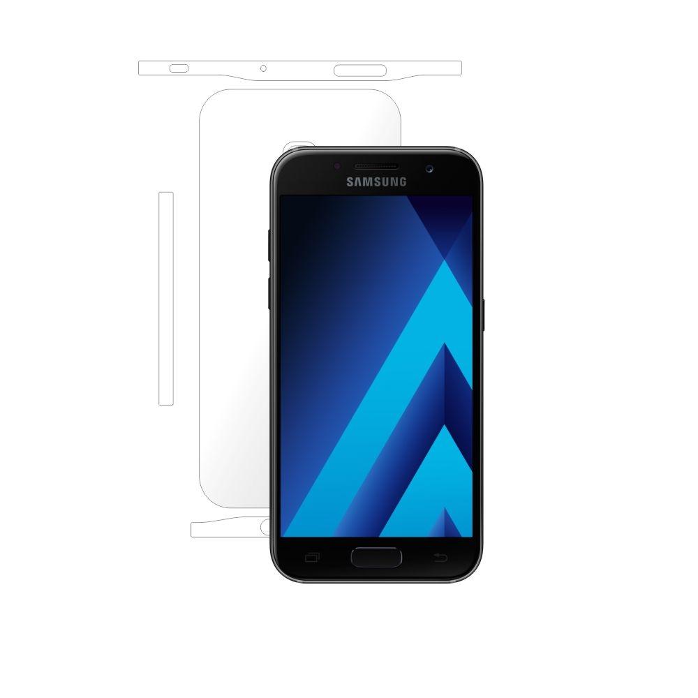Folie de protectie Smart Protection Samsung Galaxy A3 (2017) - doar-spate+laterale imagine