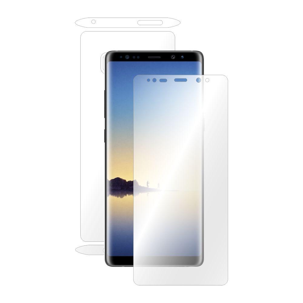 Folie de protectie Smart Protection Samsung Galaxy Note 8 compatibila cu carcasa Clear Cover - fullbody - display + spate + laterale imagine