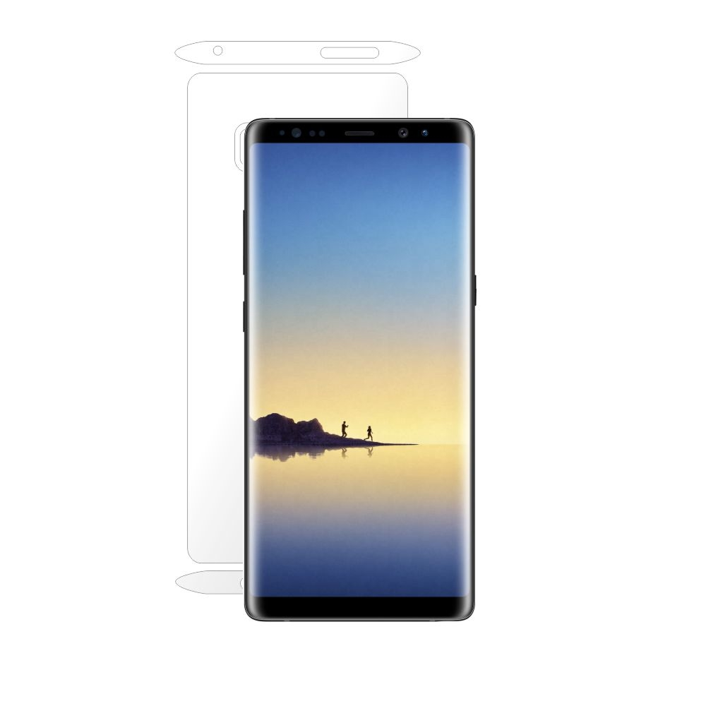 Folie de protectie Smart Protection Samsung Galaxy Note 8 compatibila cu carcasa Clear Cover - doar-spate+laterale imagine