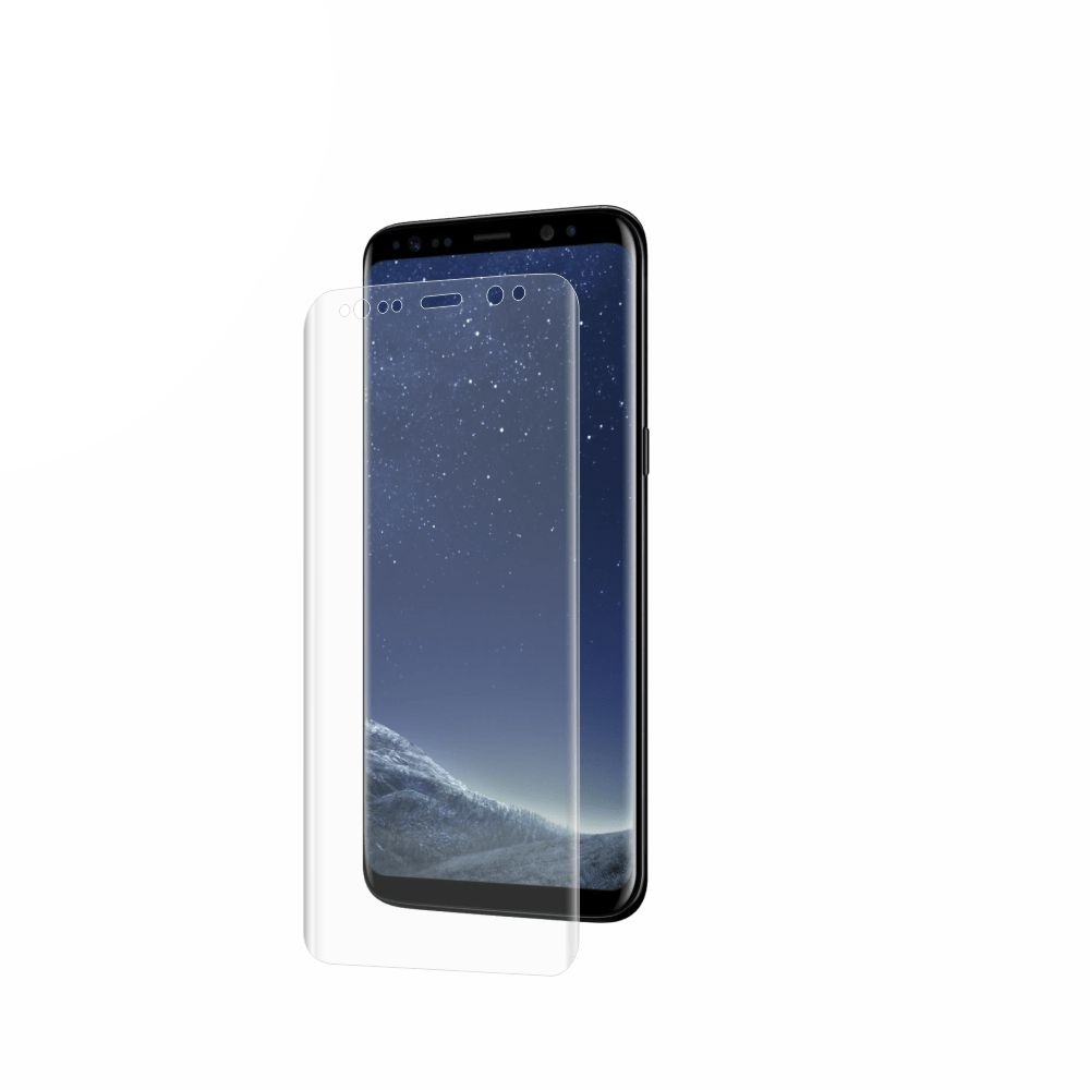 Folie de protectie Smart Protection Samsung Galaxy S8 Plus compatibila cu carcasa Silicone Cover - doar-display imagine
