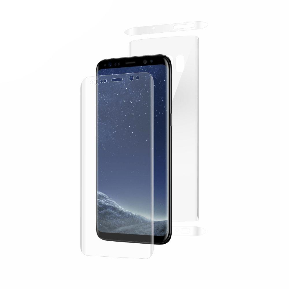 Folie de protectie Smart Protection Samsung Galaxy S8 compatibila cu carcase Rugged tip Spigen sau UAG - fullbody - display + spate + laterale imagine
