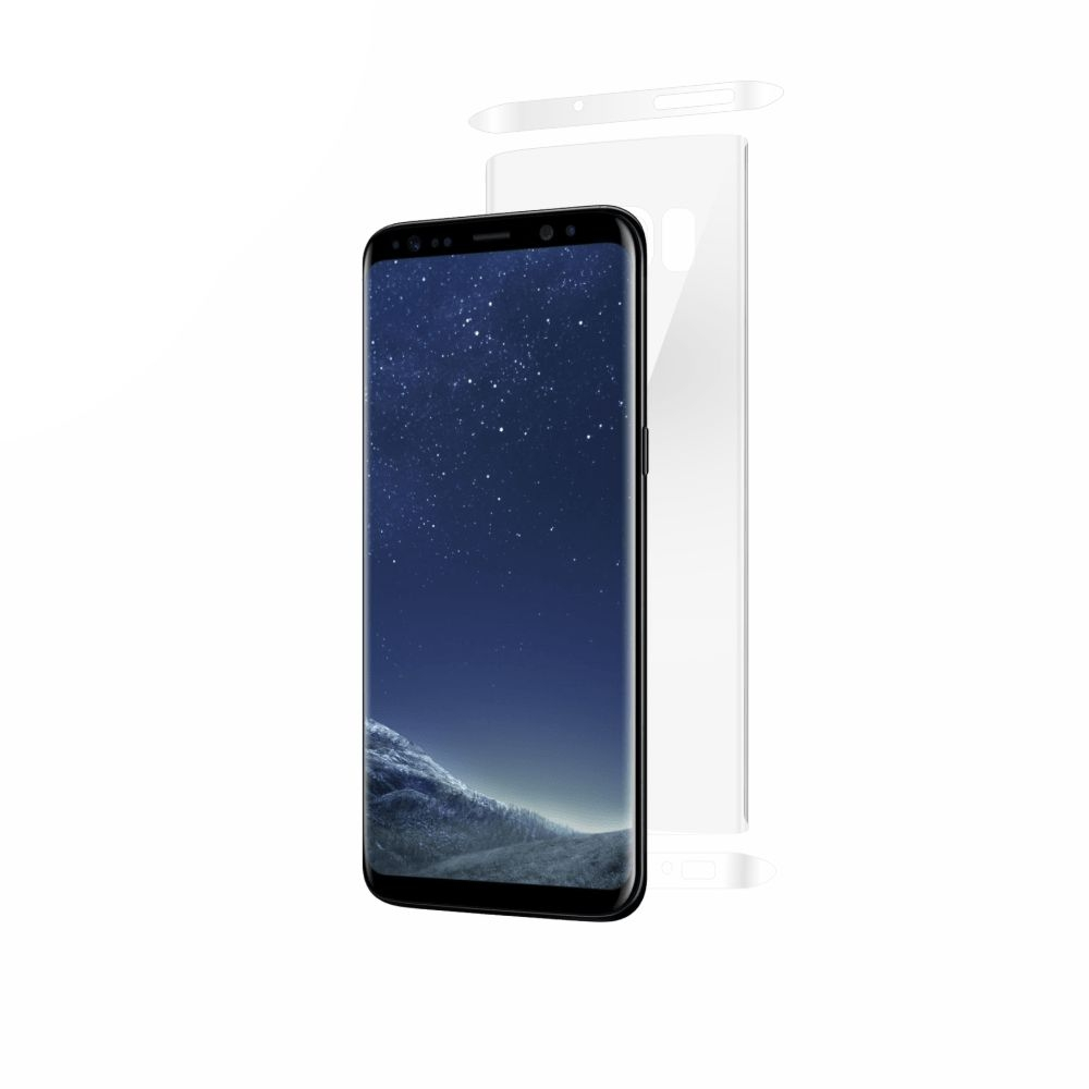 Folie de protectie Smart Protection Samsung Galaxy S8 compatibila cu carcasa Alcantara Cover - doar-spate+laterale imagine