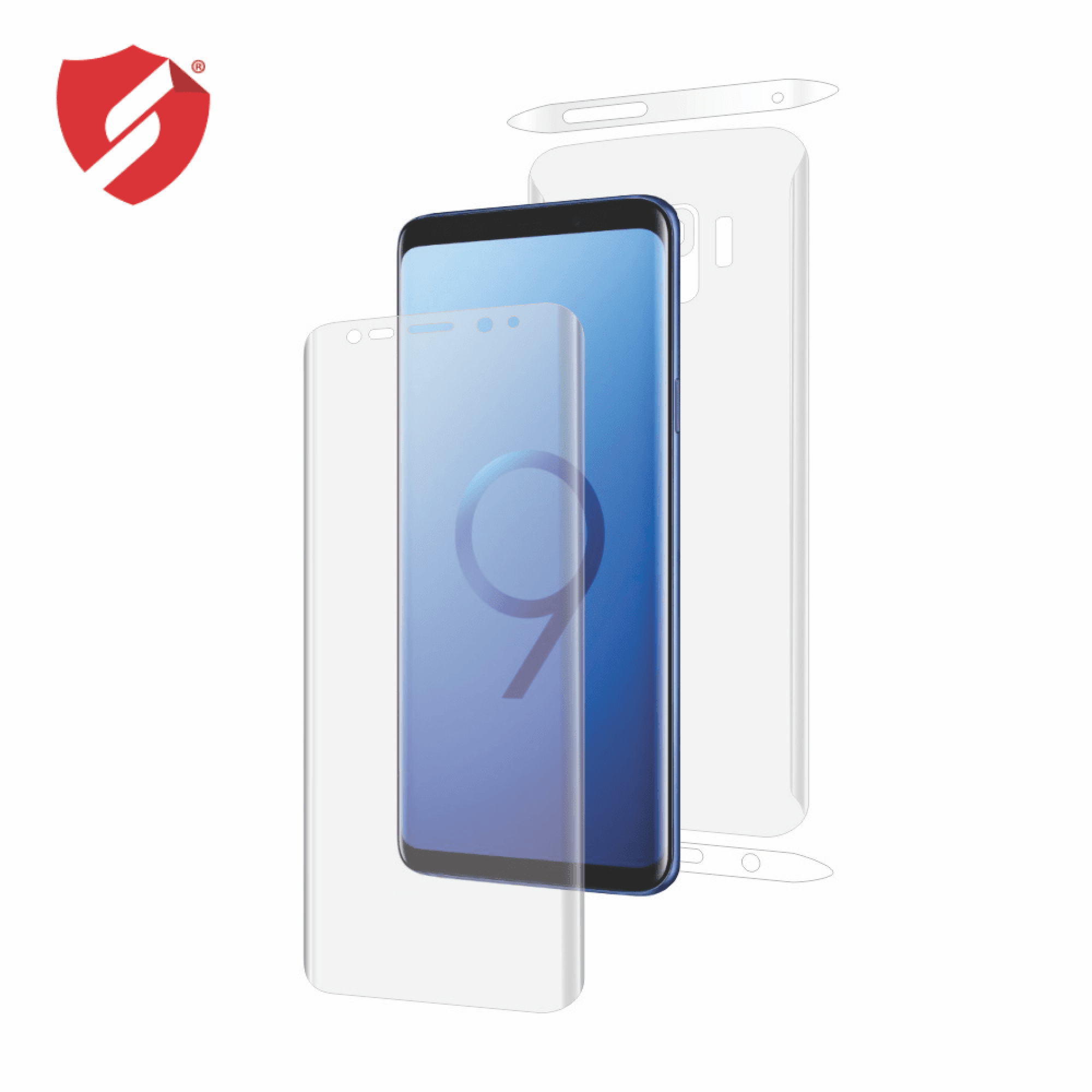 Folie de protectie Smart Protection Samsung Galaxy S9 compatibila cu carcasa Spigen Rugged Armor - fullbody - display + spate + laterale imagine