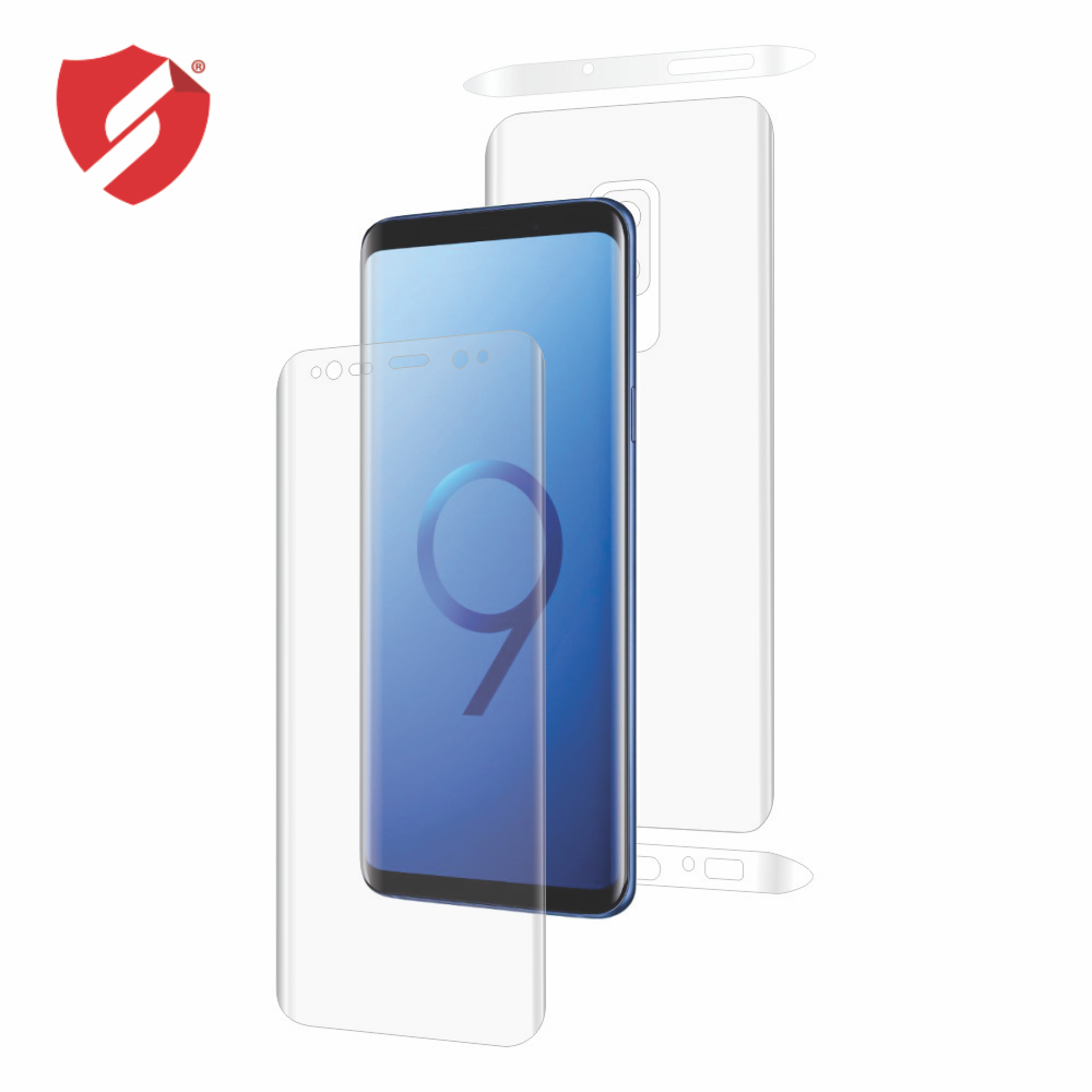 Folie de protectie Smart Protection Samsung Galaxy S9 Plus compatibila cu carcasa Spigen - fullbody - display + spate + laterale imagine