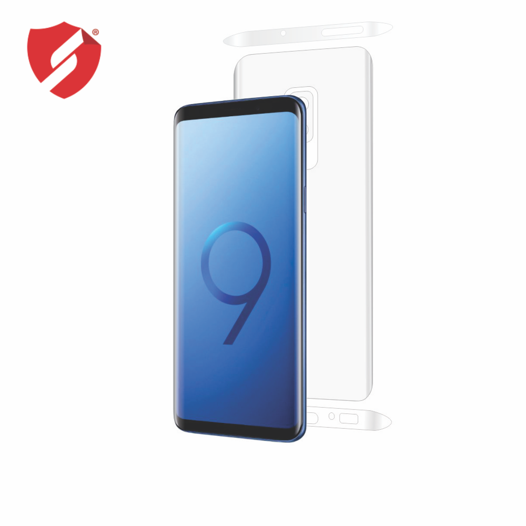 Folie de protectie Smart Protection Samsung Galaxy S9 Plus compatibila cu carcasa Flip Cover - doar-spate+laterale imagine