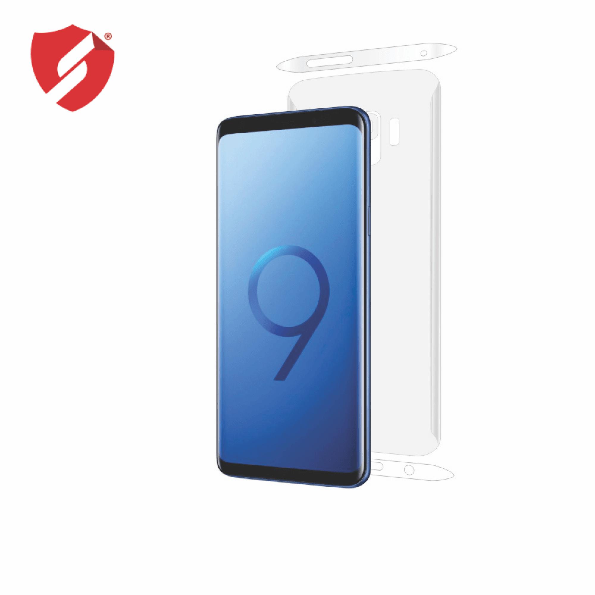 Folie de protectie Smart Protection Samsung Galaxy S9 compatibila cu carcasa Clear Cover - doar-spate+laterale imagine