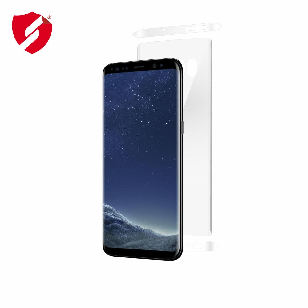 Folie de protectie Smart Protection Samsung Galaxy S8 compatibila cu carcasa Clear Cover - doar-spate+laterale imagine