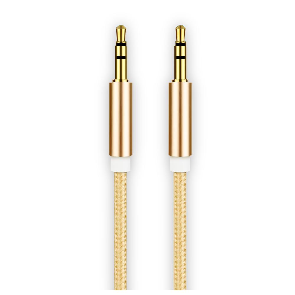 Cablu audio smart cu mufa jack 3.5 mm pentru Aux Rose Gold imagine