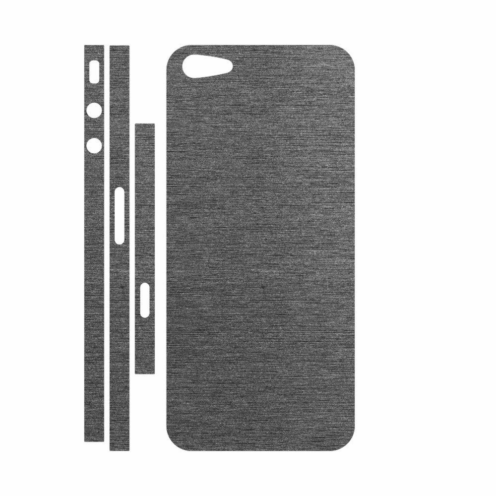 Skin Wrap Smart Protection iPhone 5 spate si laterale - Metalic Graphit imagine
