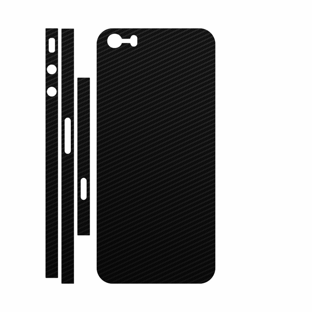 Skin Wrap Smart Protection iPhone 5s spate si laterale - Carbon Negru imagine