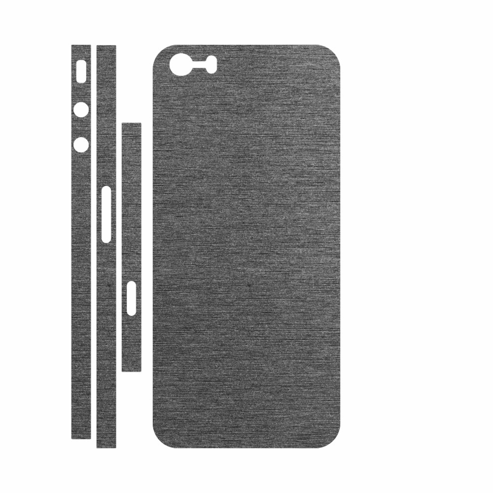 Skin Wrap Smart Protection iPhone 5s spate si laterale - Metalic Graphit imagine