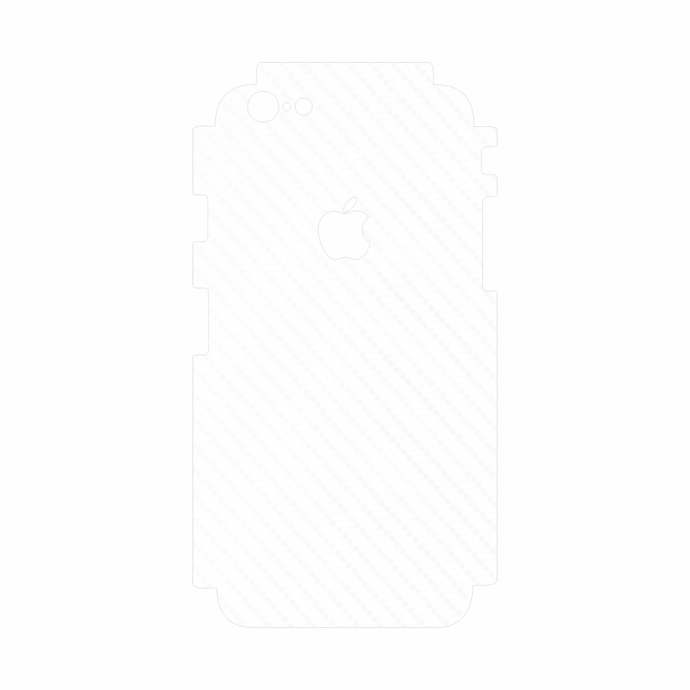 Skin Wrap Smart Protection iPhone 6 Plus spate si laterale - Carbon Alb imagine