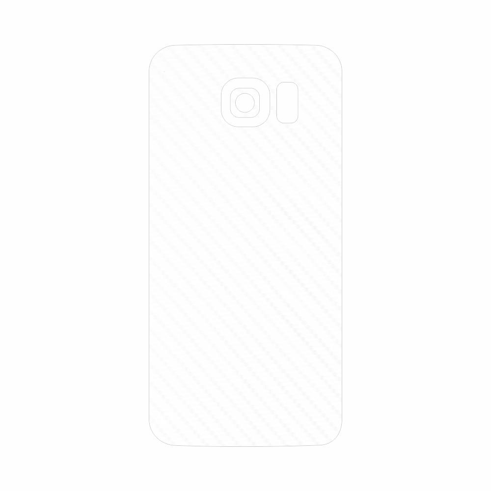 Skin Wrap Smart Protection Samsung S6 Edge spate - Carbon Alb imagine