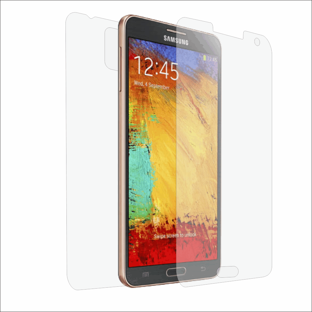 Folie de protectie Smart Protection Samsung Galaxy Note 3 - fullbody-display-si-spate imagine