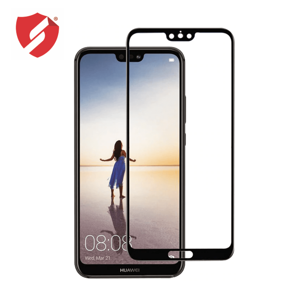 Tempered Glass - Ultra Smart Protection Huawei P20 fulldisplay negru - Ultra Smart Protection Display + Clasic Smart Protection spate + laterale imagine