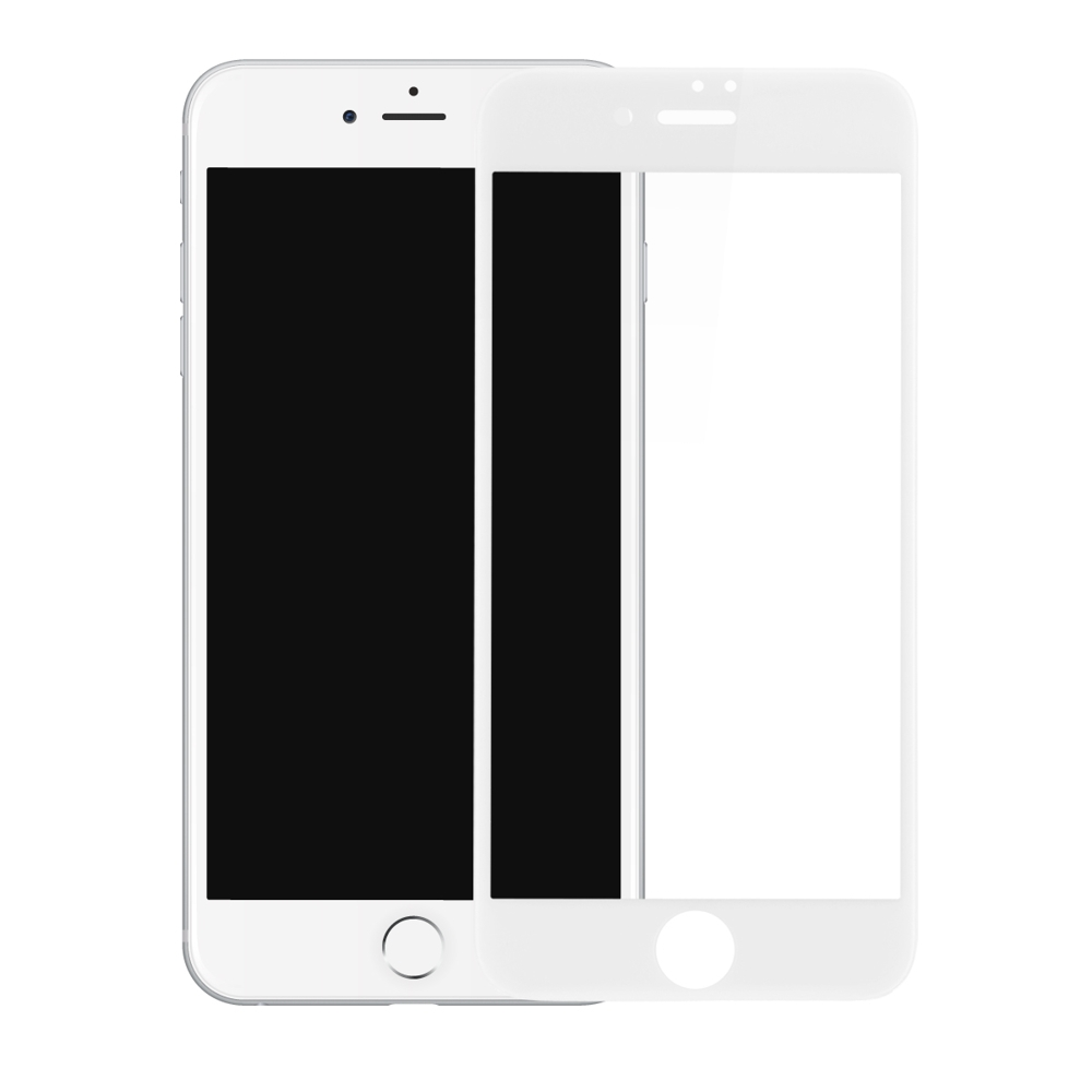 Tempered Glass - Ultra Smart Protection iPhone 8 Plus Fulldisplay Alb - Ultra Smart Protection Display + Clasic Smart Protection spate + laterale imagine