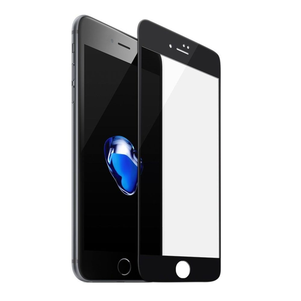 Tempered Glass - Ultra Smart Protection iPhone 8 Plus Fulldisplay Negru - Ultra Smart Protection Display + Clasic Smart Protection spate + laterale imagine