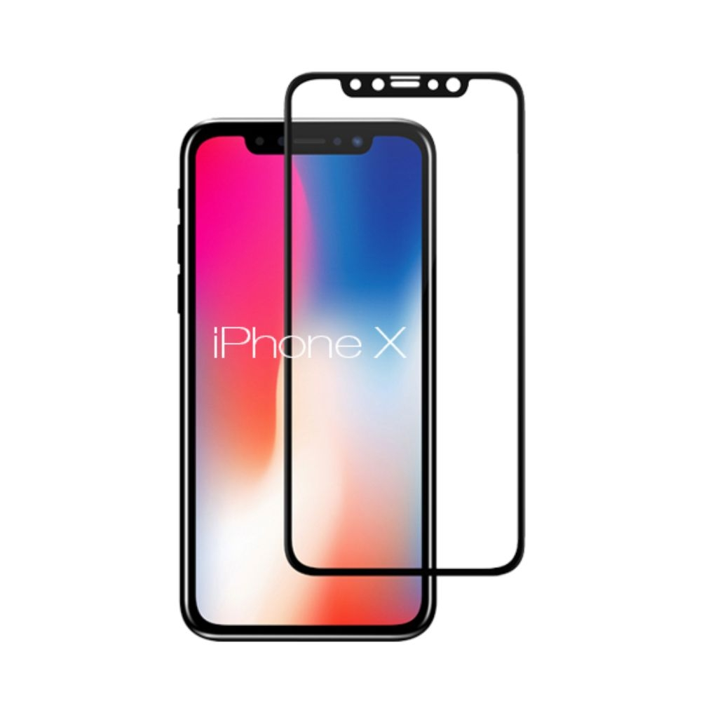 Tempered Glass - Ultra Smart Protection iPhone X Fulldisplay Negru - Ultra Smart Protection Display + Clasic Smart Protection spate + laterale imagine
