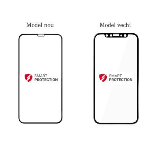 Tempered Glass - Ultra Smart Protection iPhone X Fulldisplay Negru versus model anterior